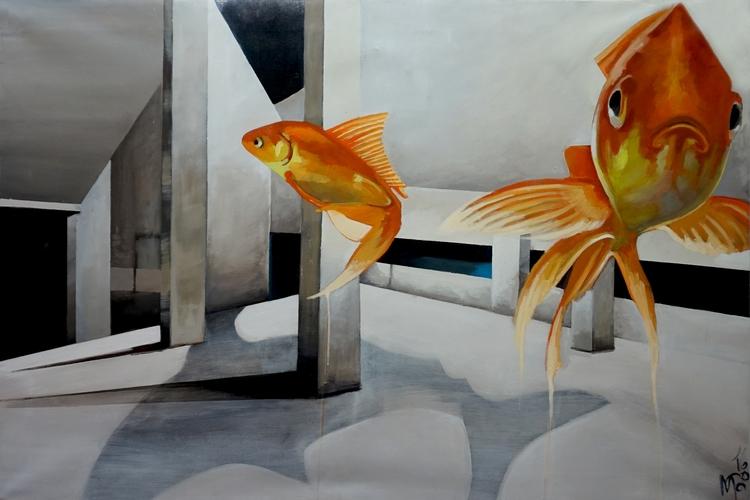 Submerged 2016, acrylic canvas  - maritotto | ello