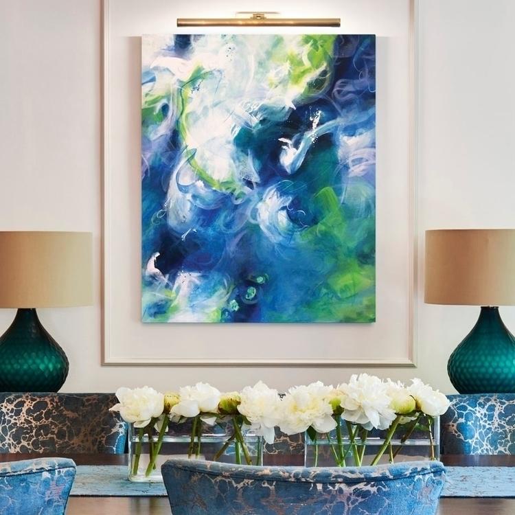 Déjà Bleu 5, acrylic canvas - abstractart - lynettemelnyk | ello