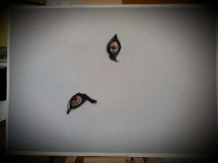 wip 50x70 soft pastel - draw, drawing - daniela_rum   ello