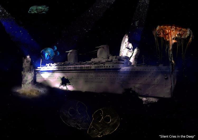 Silent Cries Deep Surreal Seas  - greycrossstudios | ello