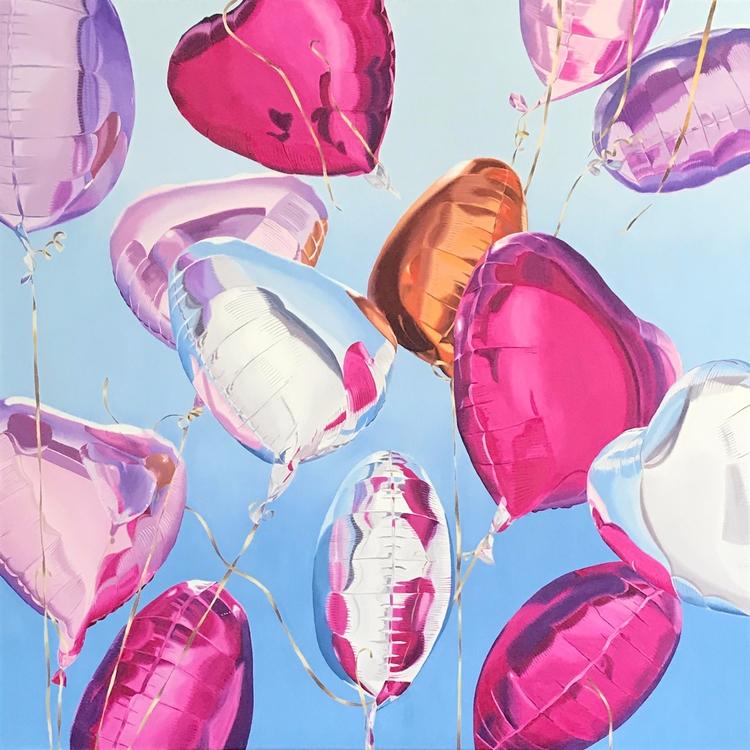 Pink Hearts Gemma Gene - artwxrk   ello