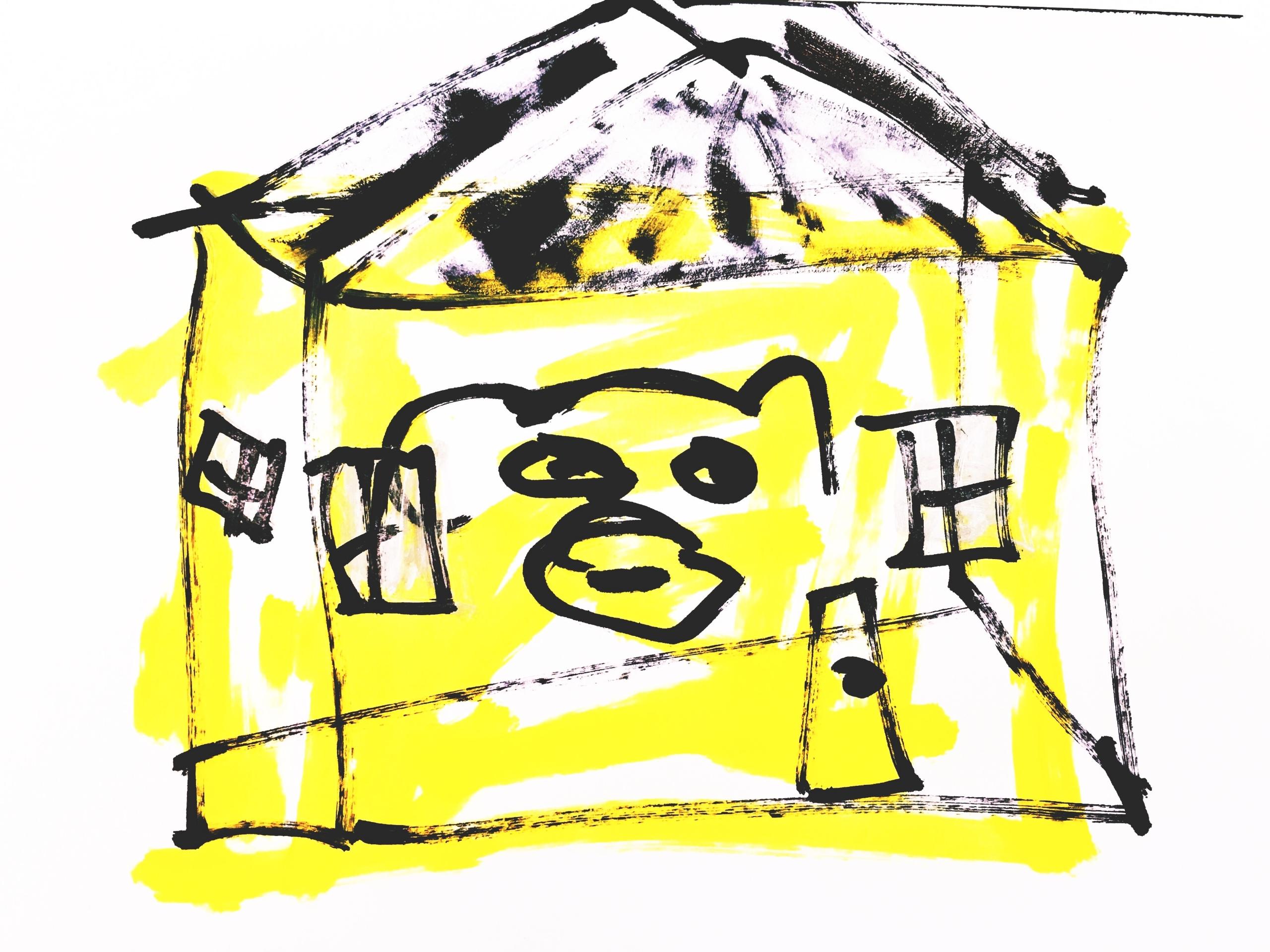 Bear Poorly Constructed Yellow  - jkalamarz | ello