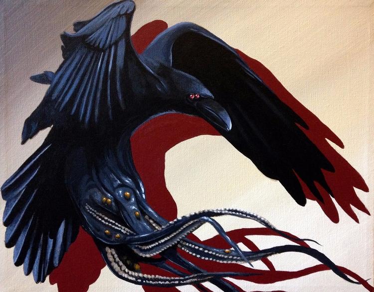Raven Arkham. 11x14 Acrylic can - bowenstuff | ello