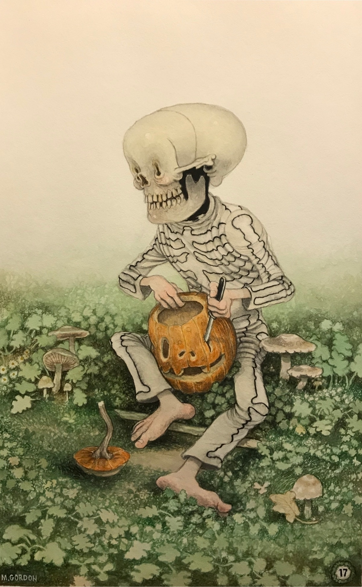 Pumpkin Buddy~ watercolor legio - _mattgordon_ | ello
