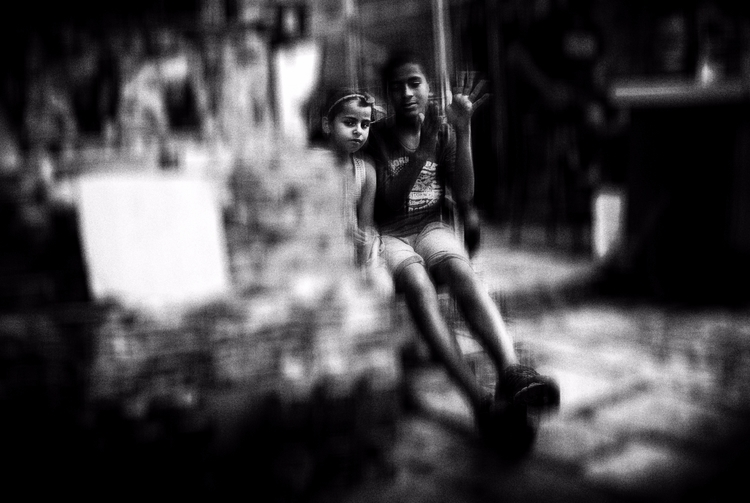 Children - street, photography, bw - elhanans | ello