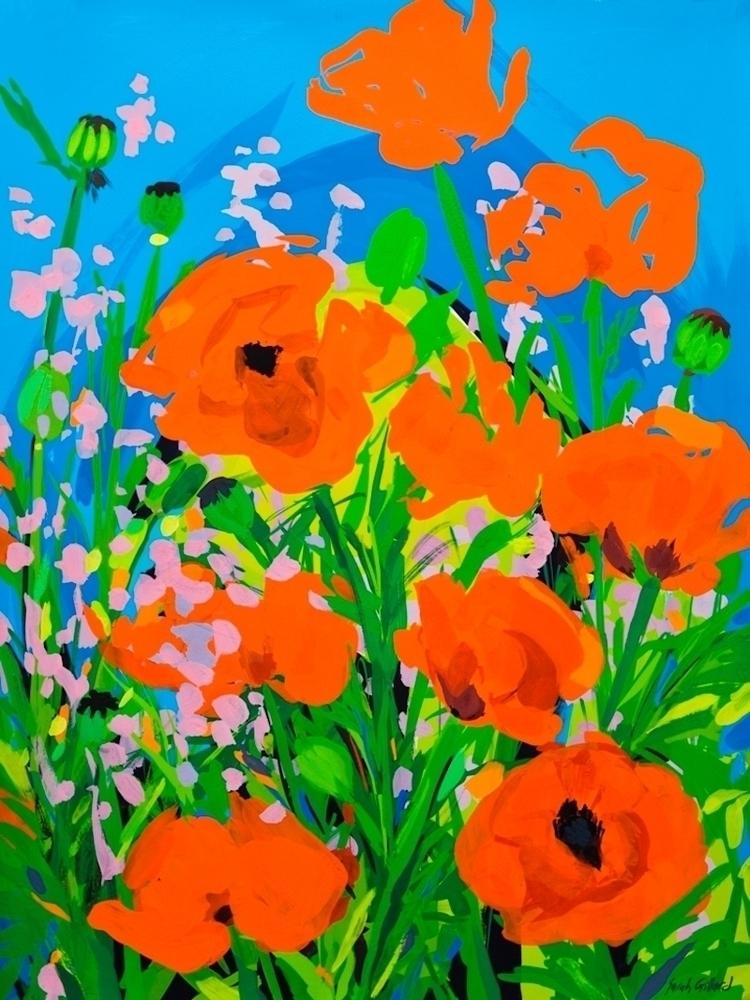Poppies, Original painting Goua - sarahgillard | ello
