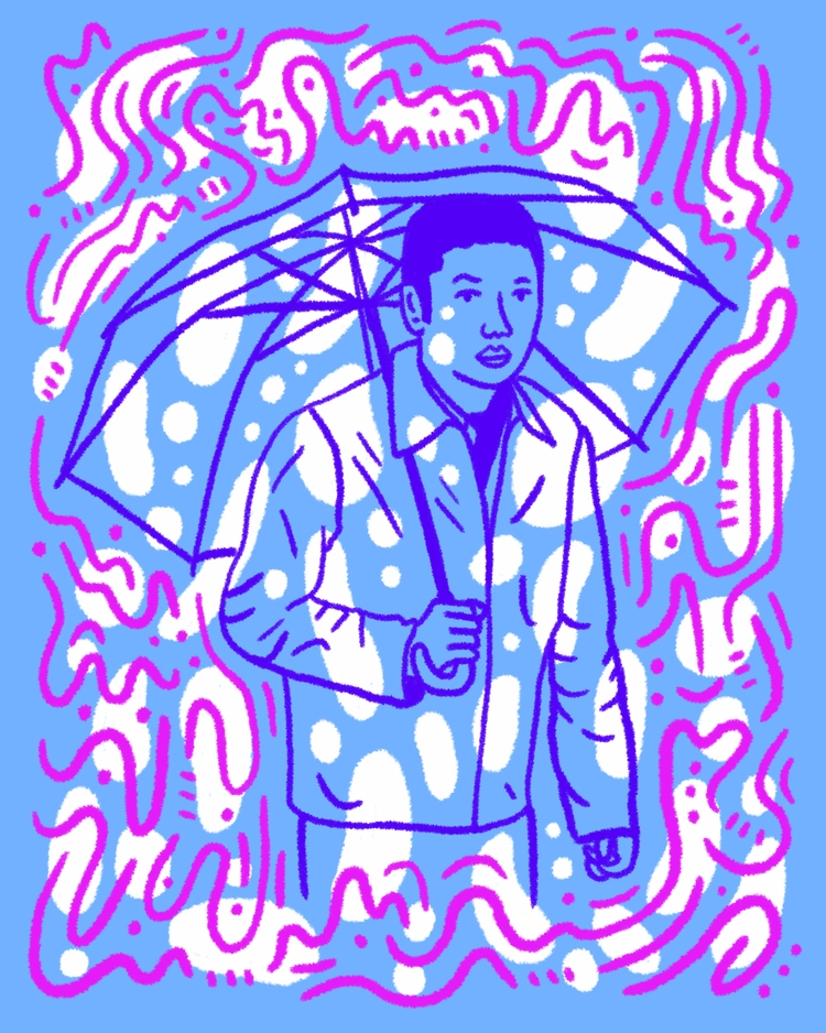 Umbrella Time - illustration, illustrator - heybop | ello