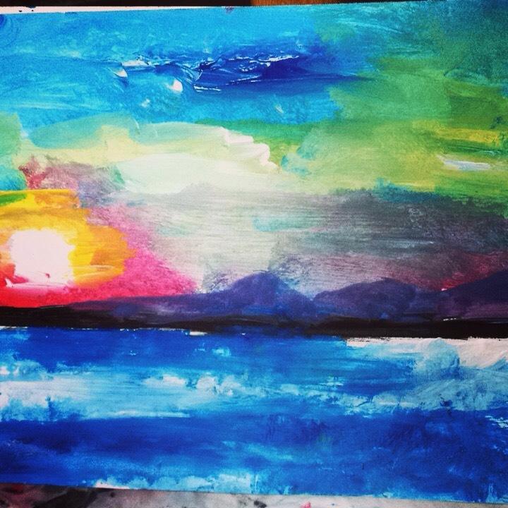 Sunset RAYS Love - loveartwonders | ello