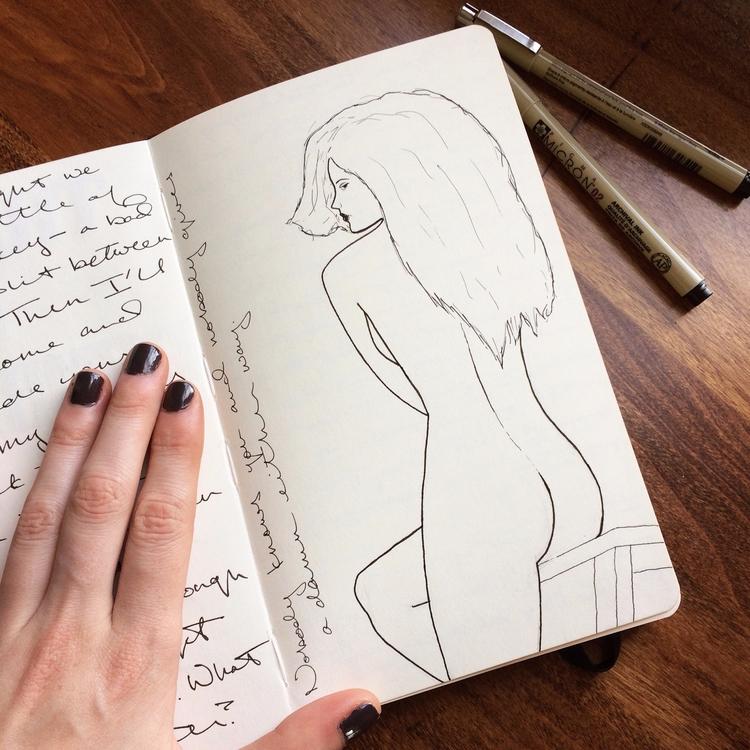 figure, drawing, art, micron - betsykevans | ello
