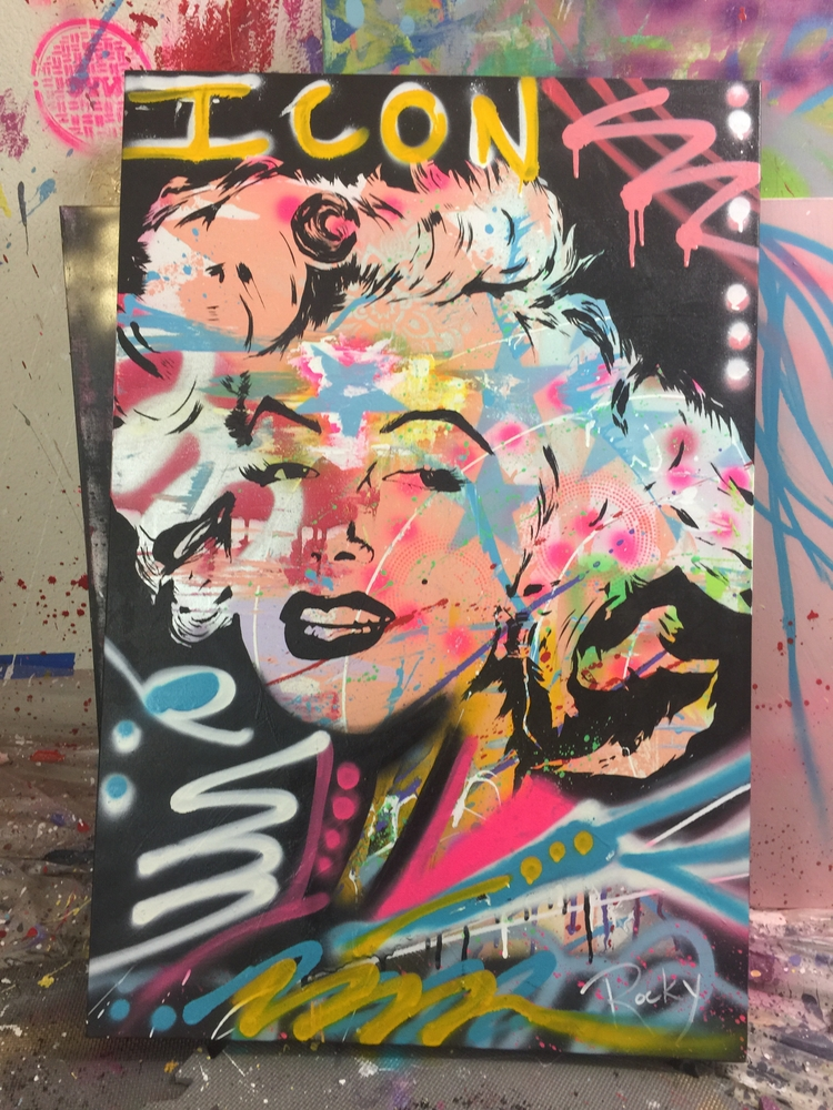 art#abstract#marylinmonroe#streetart#abstractart##acrylic#modernart#fineart#popart#woman#beautiful#contemporaryart - rockasb | ello