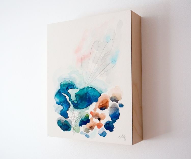 art, watercolor, aquabord, abstract - megancarty | ello