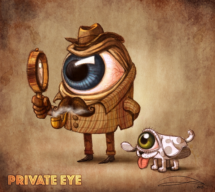 'PRIVATE EYE' character design  - baruchinbar | ello