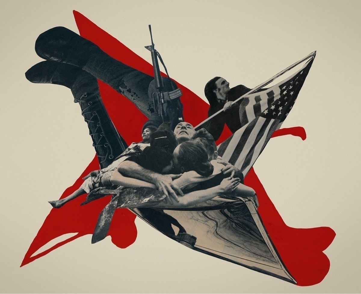 wail cut paper collage gouache  - joecastro | ello