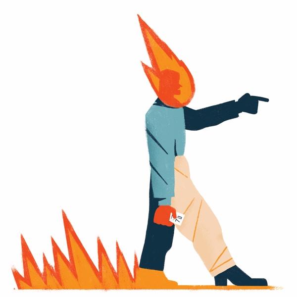 Wham - illustration, editorial, fire - giulio_castagnaro | ello