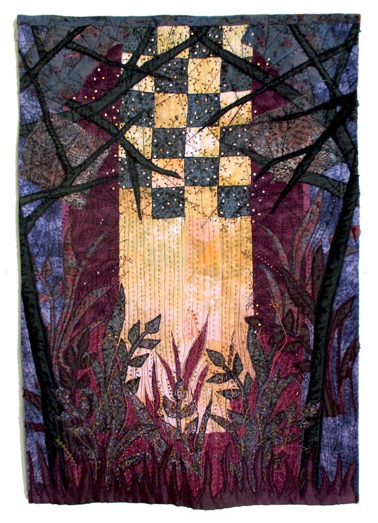 Light forest textile art - artw - bozena_wojtaszek | ello
