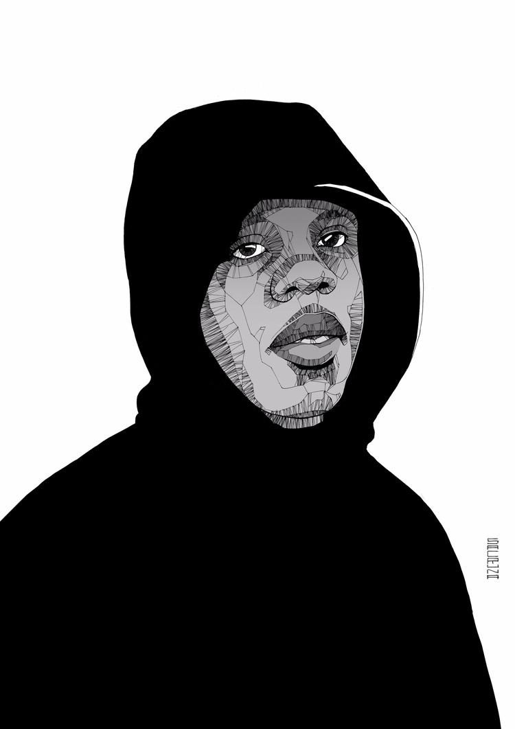Portrait Kwesi Darko (Blue Dais - sacruna | ello