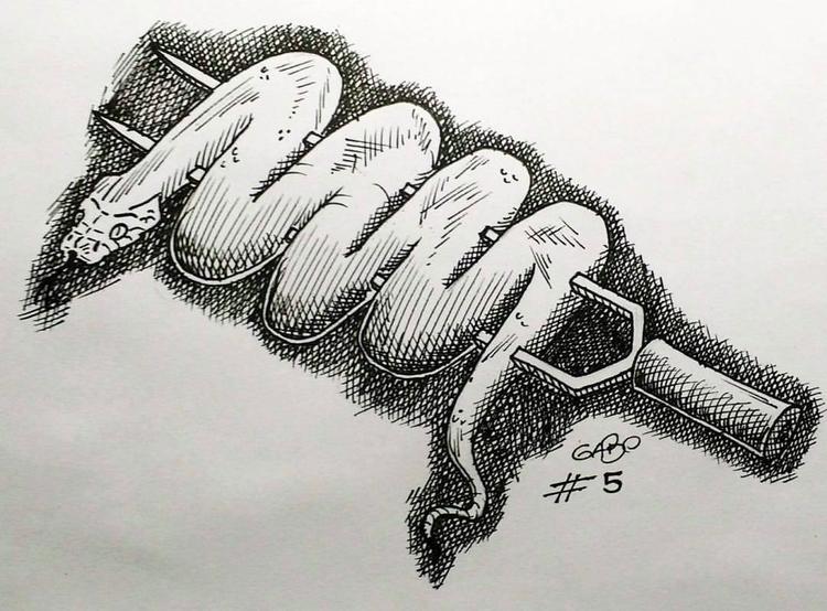 illustration, inktober, snake - gabo_jurgensen | ello