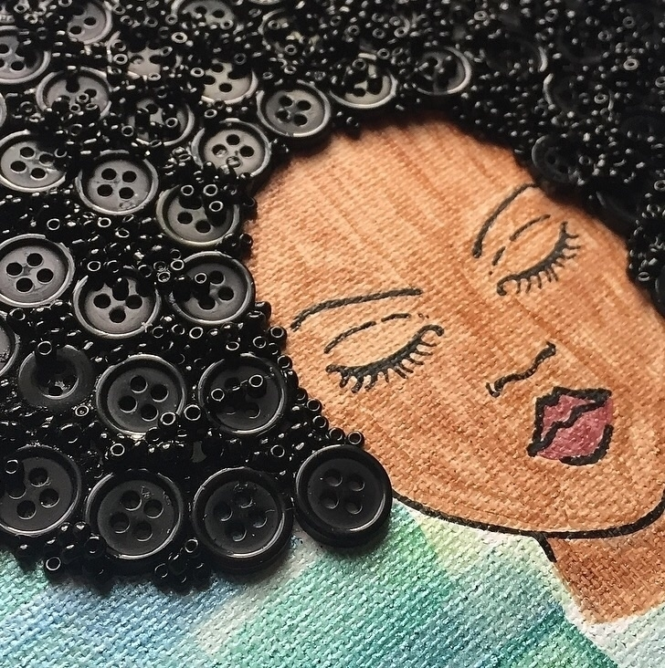 Button Art - buttons, afrohair, buttonsandbeads - yanadesigns | ello