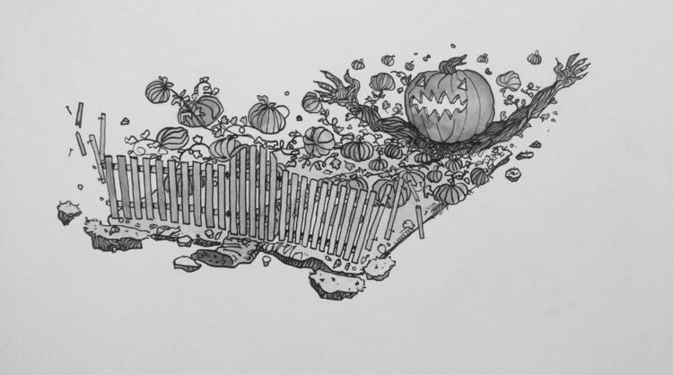Inktober 2017 -day Autumn falls - tannerzaharis | ello