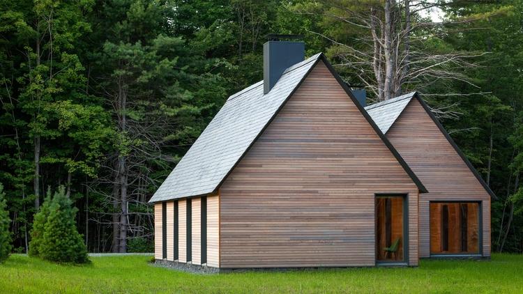 Creates cedar-clad cottages cla - elloarchitecture   ello
