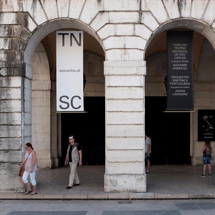 Outdoor banners Teatro Nacional - nonverbalclub | ello
