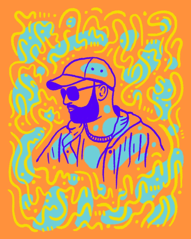 Beards Sunnies - illustration, illustrator - heybop | ello