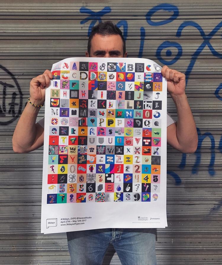 holding poster 36 Days Type exh - riccardosabatini | ello