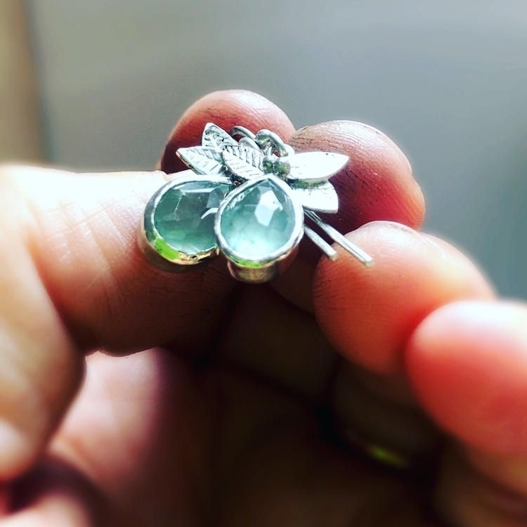 Aquamarine dew drop earrings - etsyshop - empyreane | ello