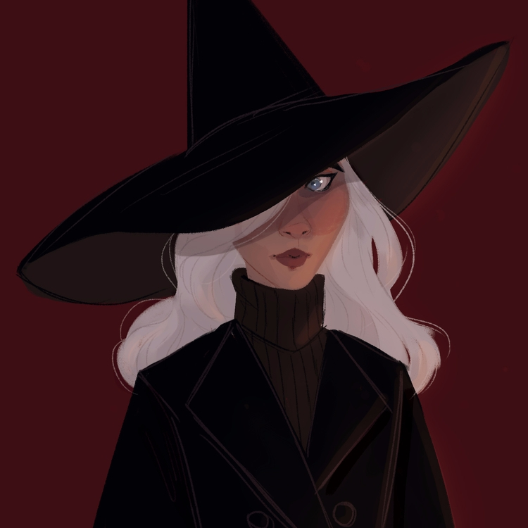 fab, witch, illustration, inktober - emmelinebramble | ello