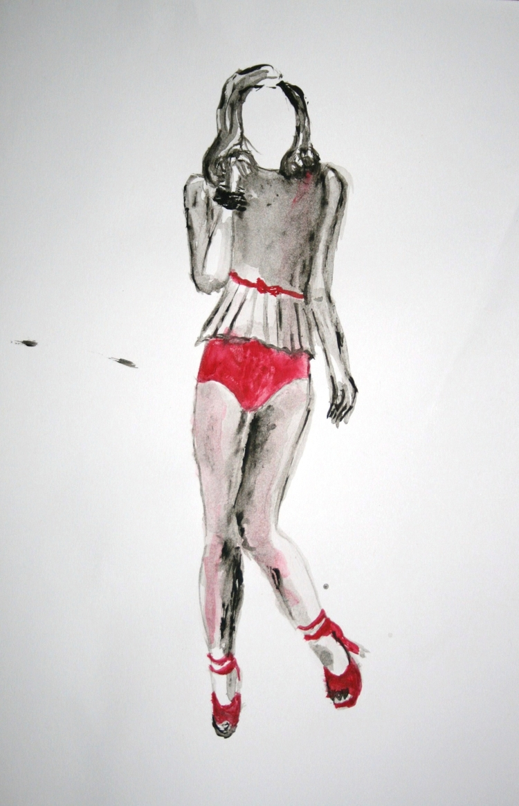 Red Women project Acrylic paper - pauladered | ello