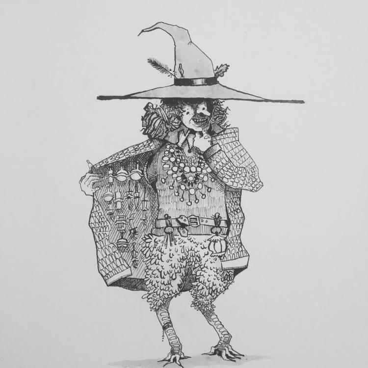 Inktober 2017 -day Baba Yaga - tannerzaharis | ello