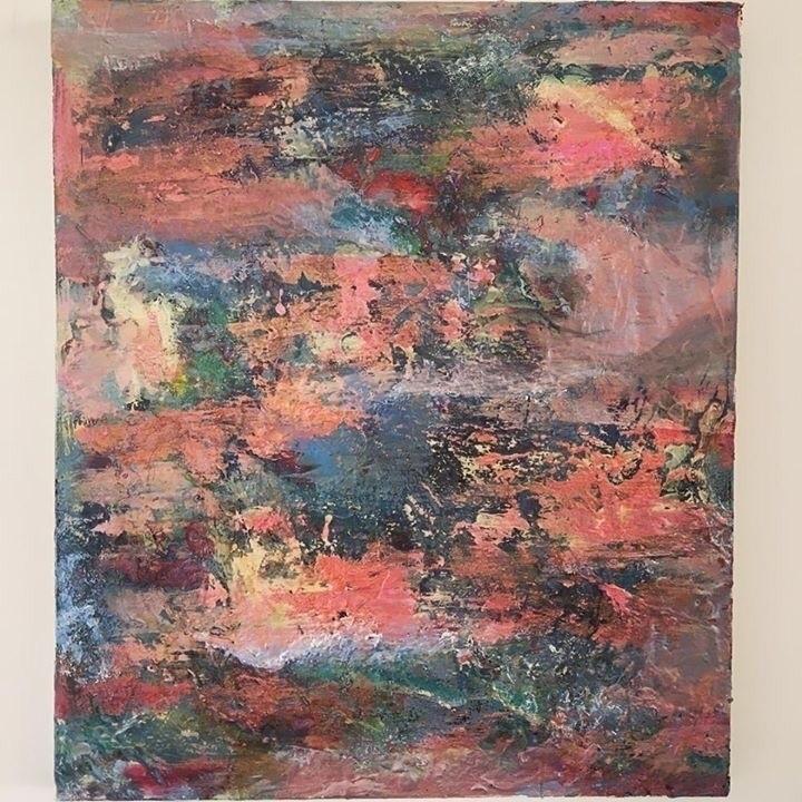 Abstract acrylic,ink canvas - sameldino | ello