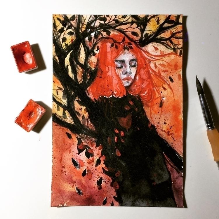Witch love - fashionillustration - ibreathart | ello