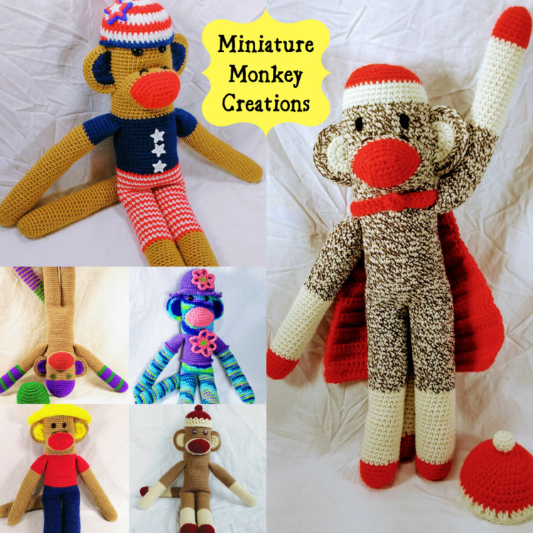 Happy favorite stock monkey, cu - miniaturemonkeycreations | ello