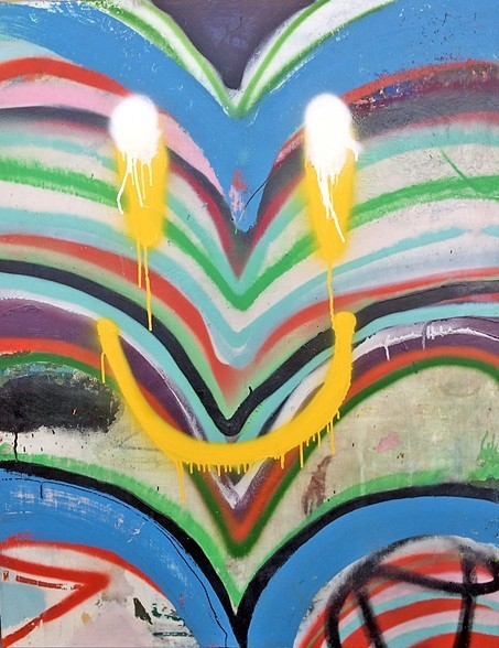 SMILE spray paint, graphite, oi - earlmcbride | ello