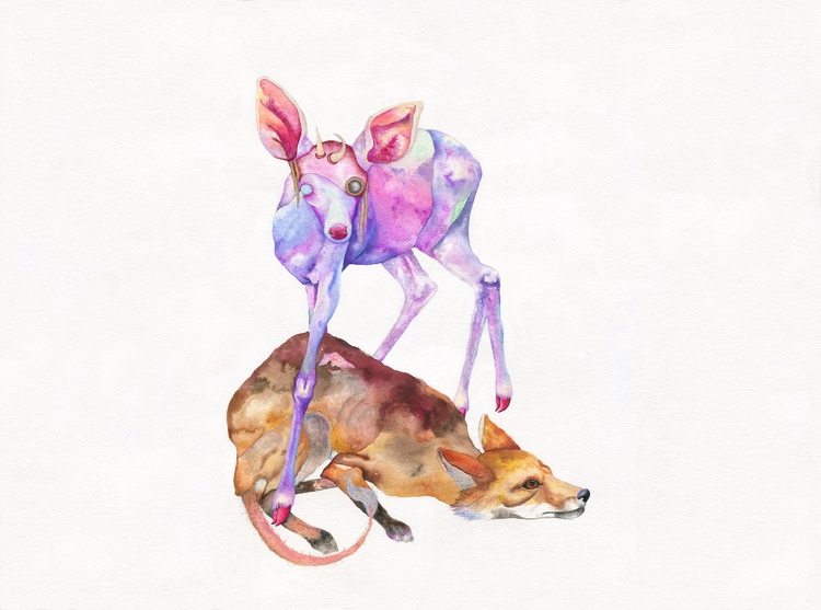 Lesson Hegemony - painting, watercolor - hannahward | ello