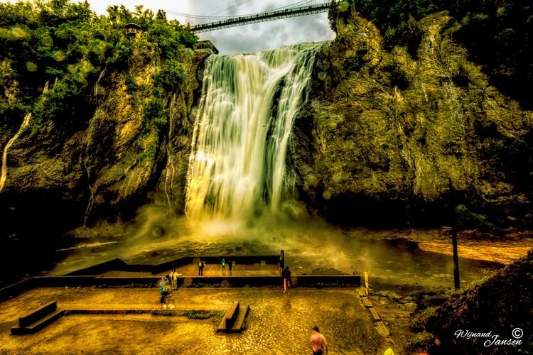 Waterfall Parc de la Chute-Mont - artmen | ello