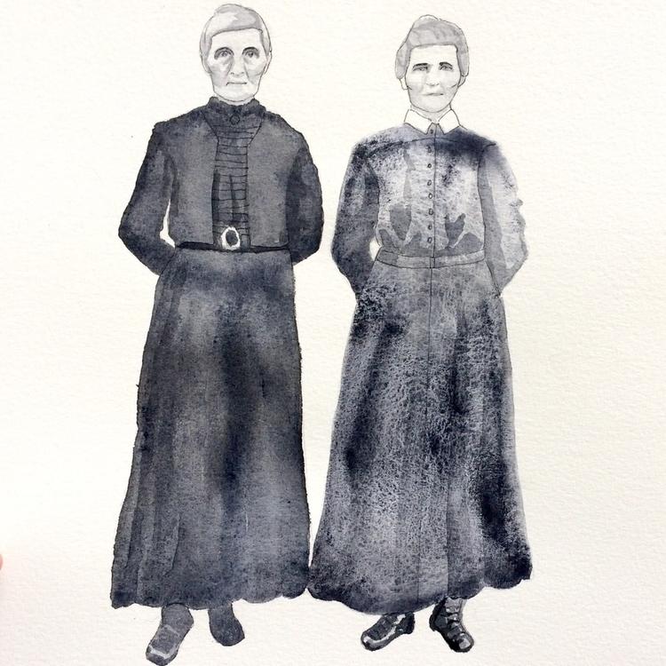 Anna Hulda - watercolor, indianink - vasagatan | ello