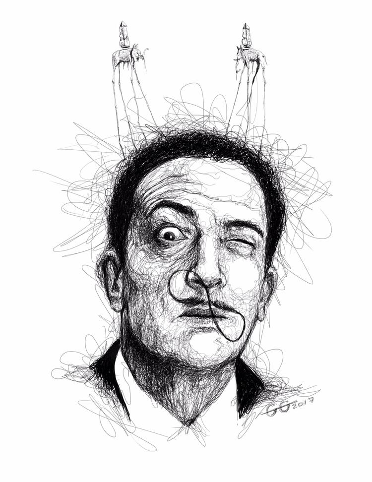 Salvador Dali. Scribble series - goragorskiy | ello