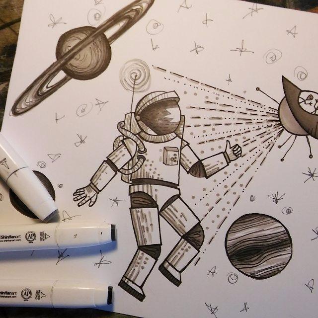 Astronaut tattoo design - astronauttatto - ernaart | ello