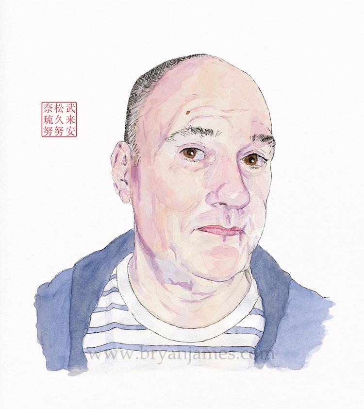Portrait Danny Gregory - waterc - bryanjamesart | ello
