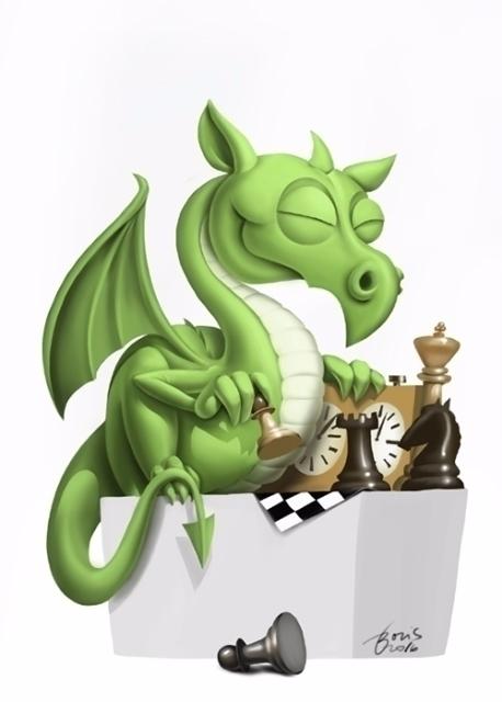 Illustration chess tournament L - karikatureboris | ello