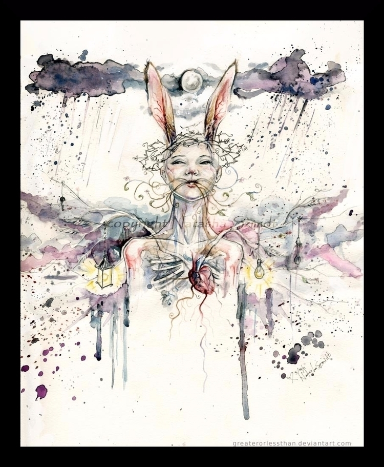 Deo. watercolor pen - fairy, surreal - moonskittles | ello