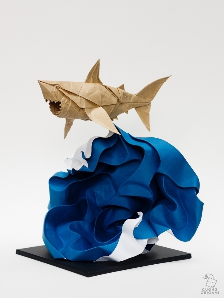 Origami Great White Shark Folde - cuongorigami | ello