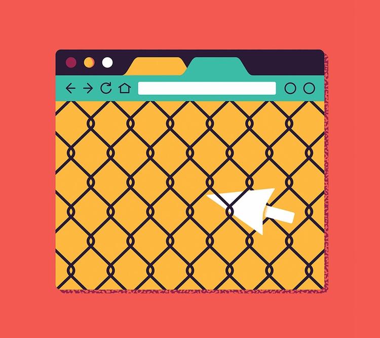 Banned website - illustration, artwork - alconic | ello