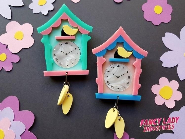 Cuckoo Clock Brooches, laser cu - definatalie | ello