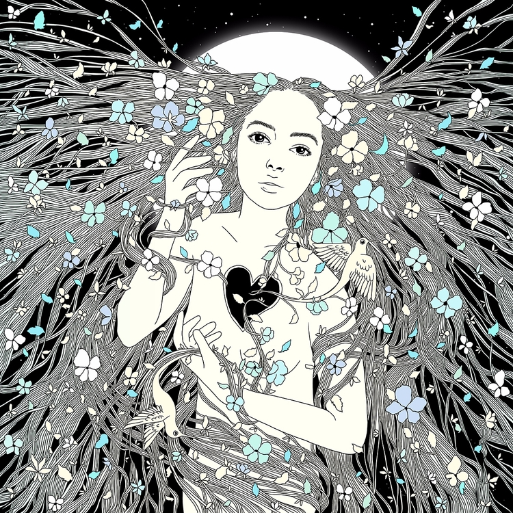 Tangled Life Portrait Nature - illustration - normanduenas | ello