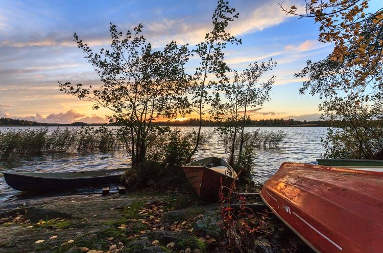 Autumn lakeside - photography, finland - anttitassberg | ello