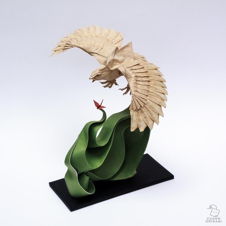 Origami Eagle Folded uncut squa - cuongorigami | ello