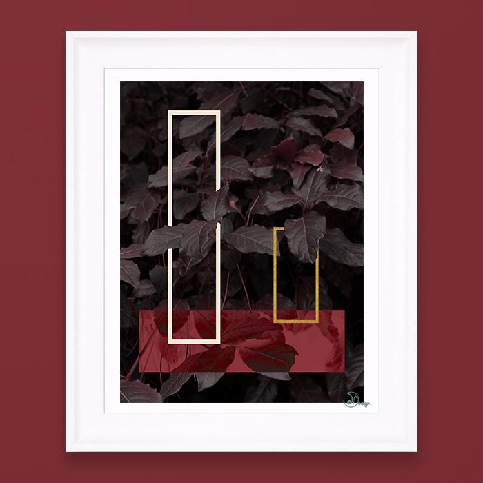 Burgundy Fall Elegant compositi - designdn | ello
